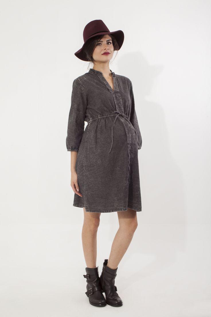 Vestido de Maternidad Tencel L2W. 1ra colección Ohmamá.