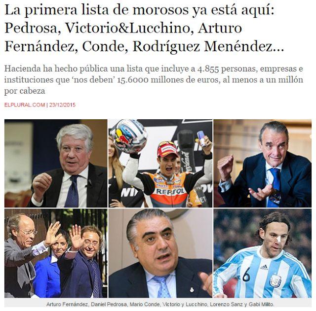 WEBSEGUR.com: PRIMERA LISTA OFICIAL DE MOROSOS DE HACIENDA
