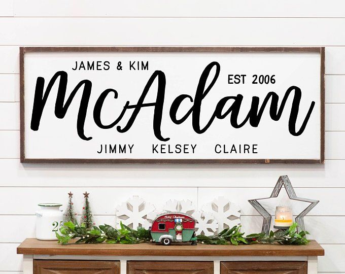 This Is Us Wall Wood Sign Personalized Wall Decor Living Room Wedding Anniversary Blended Family Gift Family Signs Name Signs Family Wood Signs