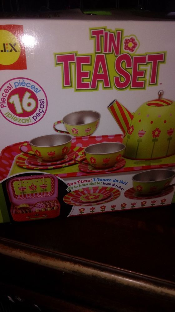 Tea Set Alex Toys Tin Gift New Recommended  Toddler Toy Girl Party nib #ALEXToys