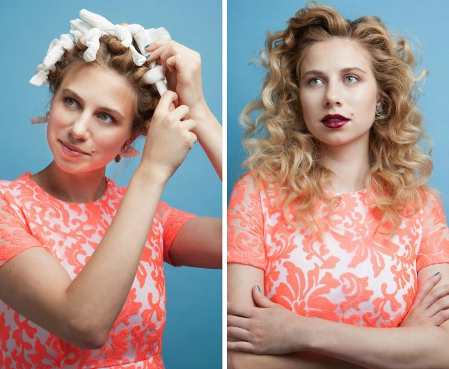 Get volume + curls overnight with this simple rag curl trick.