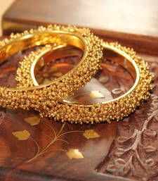 Buy GORGEOUS GOLDPLATED  GOLD  FINISH BANGLES bangles-and-bracelet online