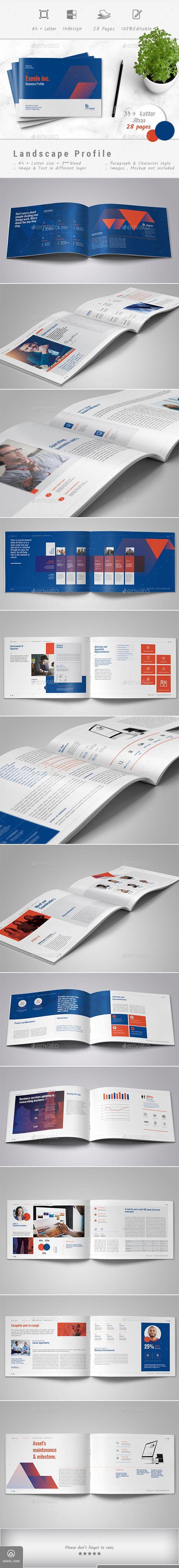 Landscape Company #Profile - #Corporate #Brochures Download here: https://graphicriver.net/item/landscape-company-profile/20133082?ref=alena994