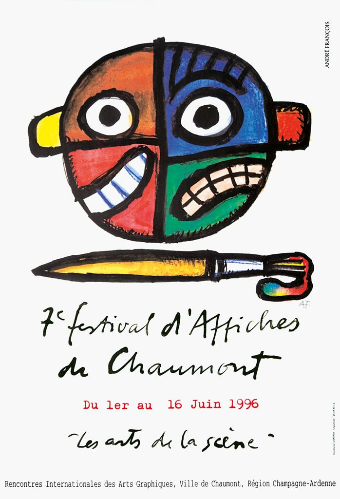 André François, 1996 - International Poster and Graphic Design Festival / 19 posters since 1990