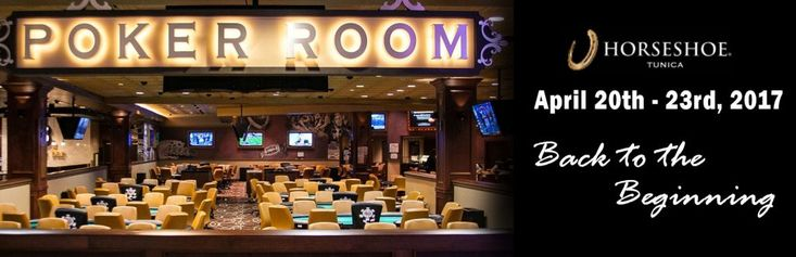 Time for another amazing series at the fabulous Horseshoe Tunica Casino! Horseshoe Tunica |1021 Casino Center Dr, Robinsonville, MS 38664 | (800) 303-7463 EVENT SCHEDULE Date/Time Event Chips Thurs Apr 20th 11 AM #1 $175 NLHE *8,000 Thurs Apr 20th 7 PM #2 $225 NLHE *8,000 Fri Apr 21st  9 AM #3