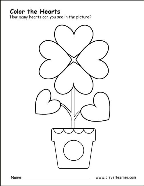 Heart shape colouring activity (With images) | Shapes ...