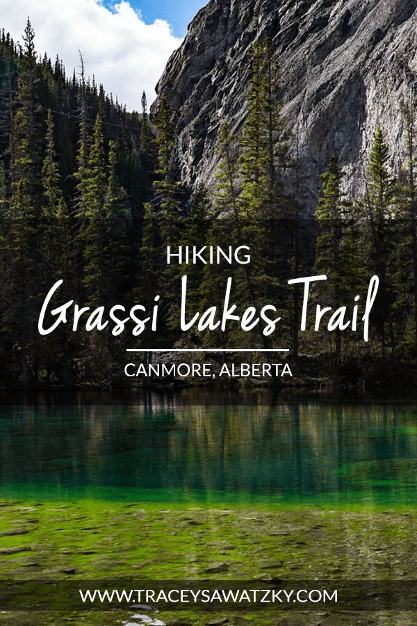 Hiking Grassi Lakes Trail - Canmore, Alberta