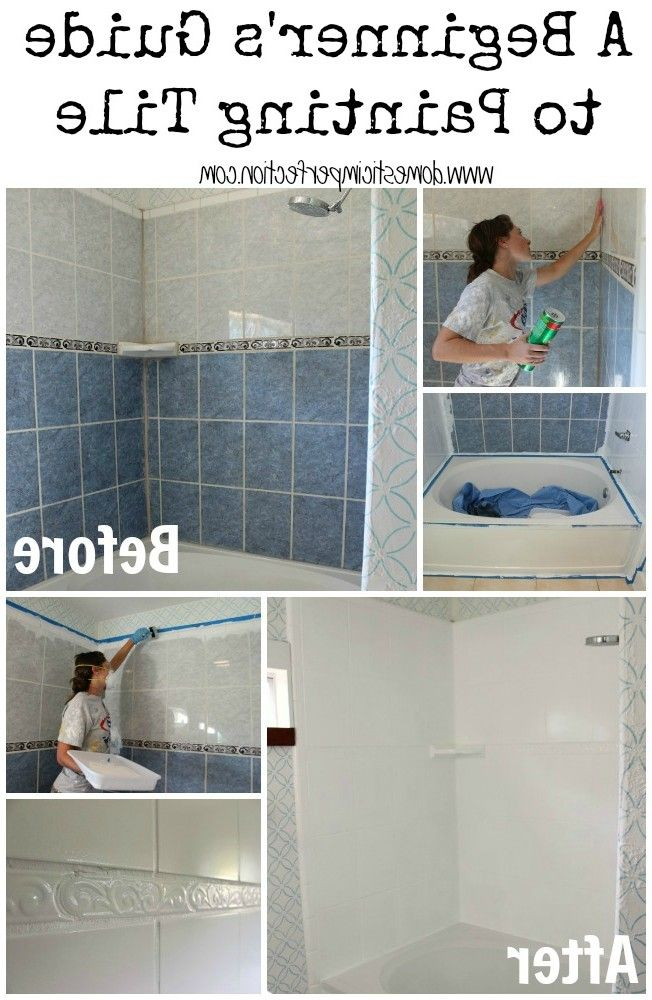 25 Best Painting Over Tiles Ideas On Pinterest Painting