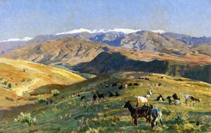 John Singer Sargent - Sierra Nevada, 1912  (United Kingdom - Cardiff)