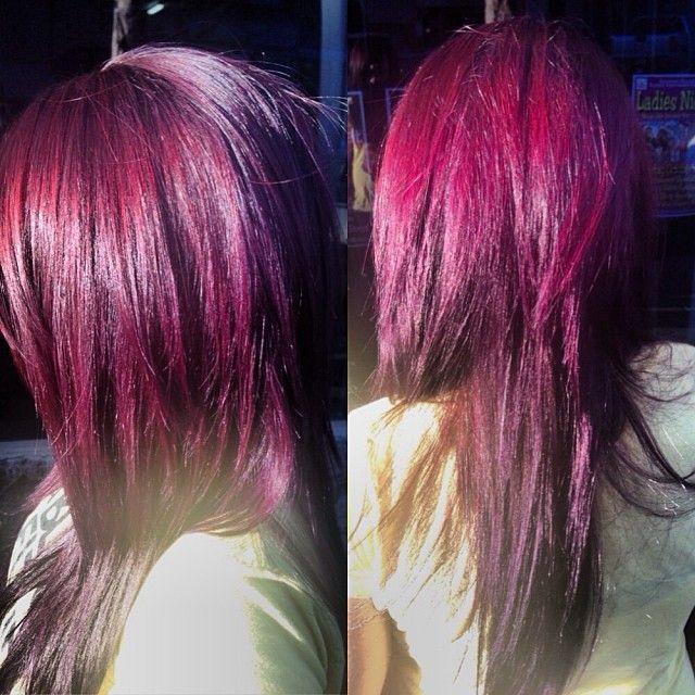 Bright red violet color