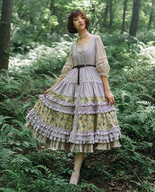 Jewelry in Sunrise -Jenny and Mentha Tea- Classic Lolita Jumper Dress