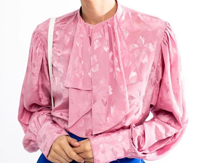 80s Top Vintage Pink blouse Vintage pink Ruffle Top Long sleeve top Vintage ruffle top 80s Blouse Vintage Pink Top Vintage ruffle top