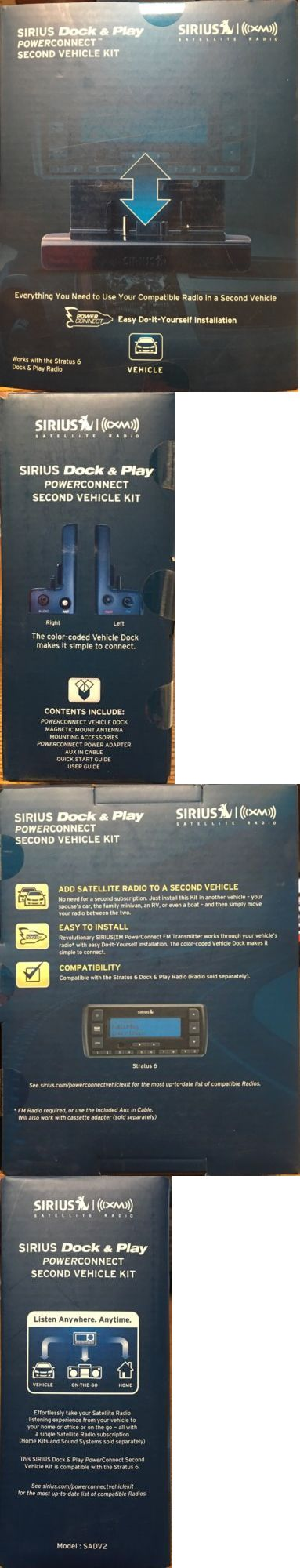 Portable Satellite Radios: Black Sirius-Xm Sadv2 Universal Dock And Play Vehicle Kit With Powerconnect BUY IT NOW ONLY: $42.95
