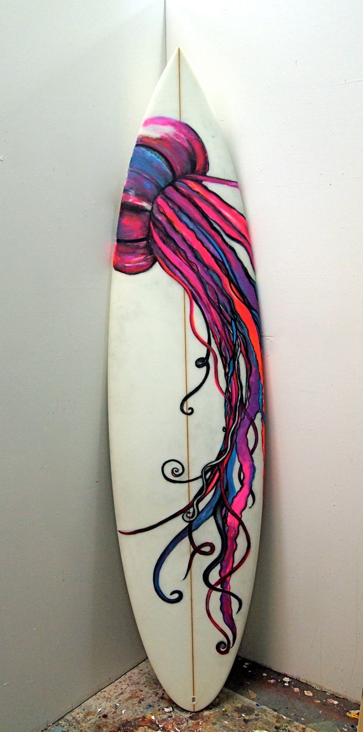 "Jellyfish Surfboard - 7'2"". $300.00, via Etsy. Love it!!!!!!!!!!!!!!!!!"