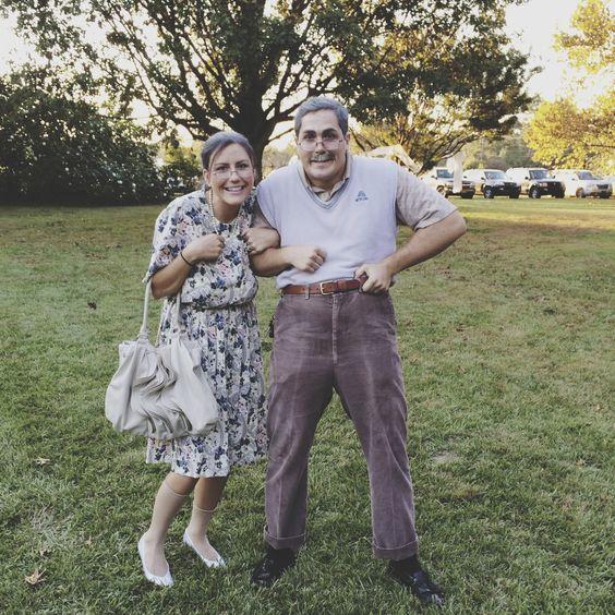 Oma und Opa Kostüm für Paare selber machen