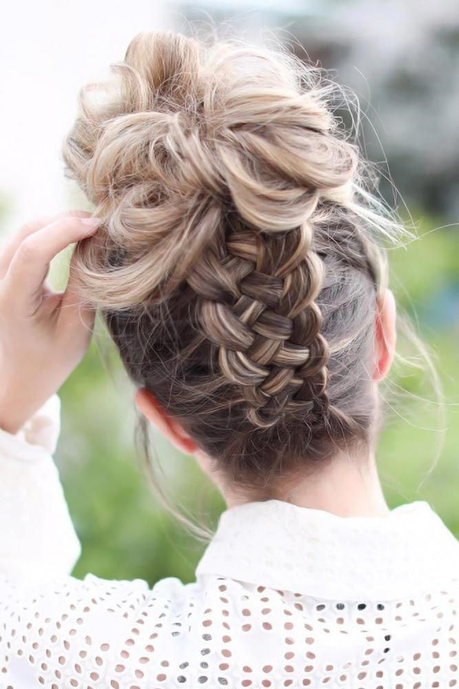 Lovely Four Strand Braided Updo Braids Back To School Hairstyles Are Supposed To Be The Least Time Hair Styles Back To School Hairstyles Braided Hairstyles