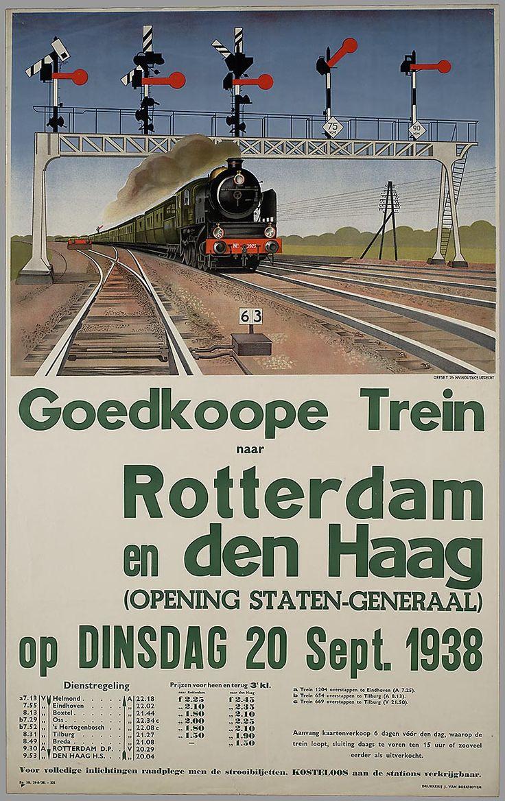 Goedkoope trein naar Rotterdam en Den Haag (opening Staten-Generaal) op dinsdag 20 sept 1938