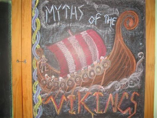 Waldorf ~ 4th grade ~ Norse Mythology ~ Cover ~ chalkboard drawing
