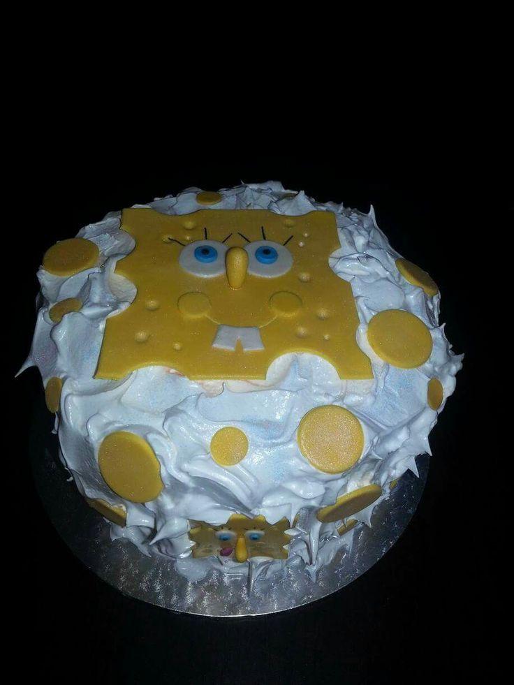 Sponge Bob Meringue Cake