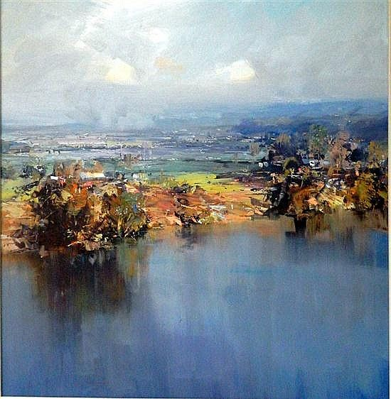 Kenneth J. Knight (1956-.) From the Terrace - Richmond 2002