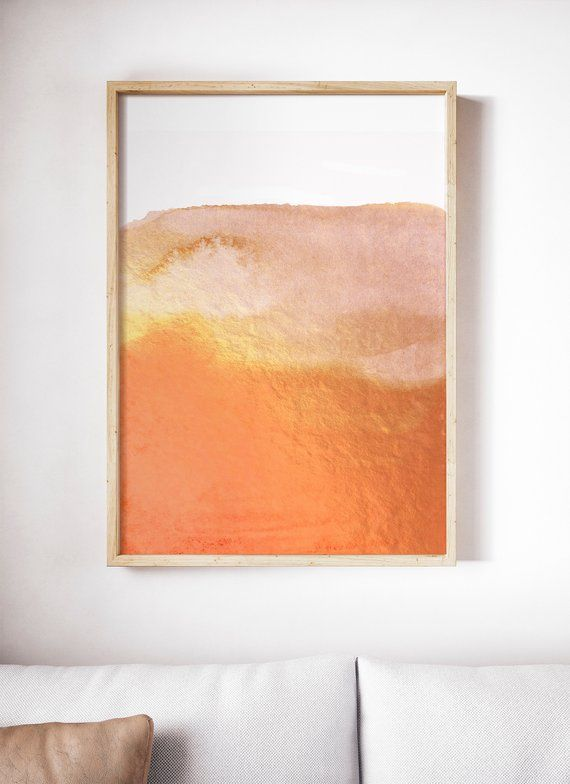 Orange Art Print Yellow Orange And White Art Abstract Orange Etsy Orange Wall Art Orange Art White Art