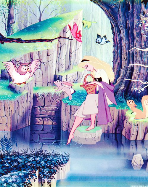 Sleeping Beauty...loved this moment...it's so simple but yet so detailed!!! awesome animation