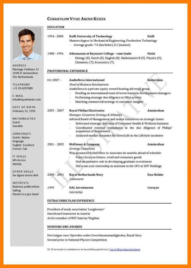Pin by Inzamam Latheef on kk Curriculum vitae format, Standard cv
