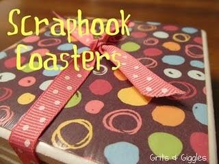 coaster: Scrapbook Coasters, Diy Coasters, Crafts Ideas, Gifts Ideas, Grits, Paper Coasters, Scrapbook Paper, Coasters Tutorials, Tile Coasters