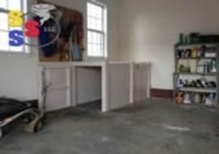 Safe room storm shelter work bench in the garage. Steel Storm Shelters LLC - Henderson, TN