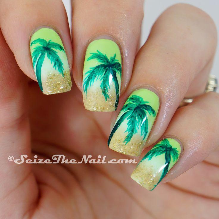 43 best tropical nail art images on Pinterest | Make up, Nail art ...