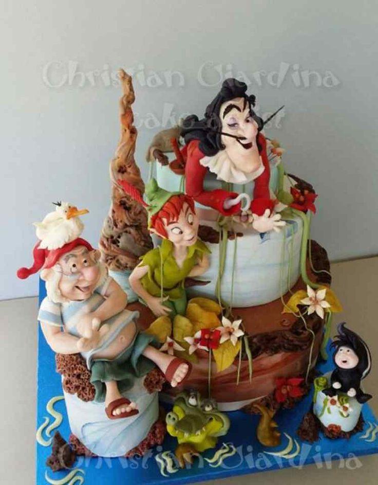 211 best Disneys Peter Pan Cakes images on Pinterest Peter pan