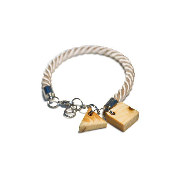 bransoletka z sęków drewnianych/ wooden knag bracelet