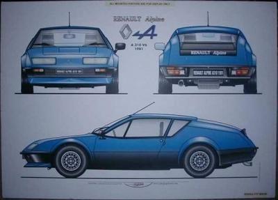 Reneault Alpine 310 V6 engine.