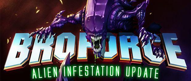 "Broforce ""Alien Infestation"" update out now #Broforce #Alien #Infestation #DLC #PC #gaming #news #vgchest"