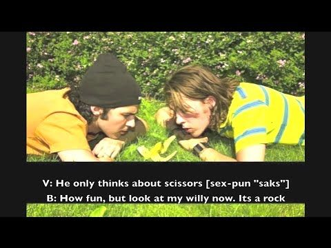 """Ylvis O-fag S01E15 [ENGLISH SUBTITLES] Its rock-paper-scissors day (RPS) today, and Team Terminator is in the studio! Loads of RPS fun, probably the biggest high score of """"basically""""s, and Brynjar Kvam must've taken quite a bit of LSD. This is just some of the things awaiting you in this episode of O-fag, enjoy!"""