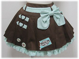 Angelic Pretty / Skirt / Melty Chocolate Wappen Skirt