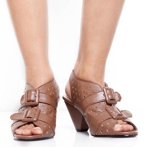 Eight Shoes - Rawnie Brown Peep Toe Heels - Rp. 164.700