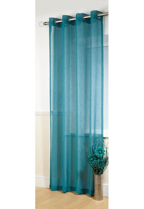 Boston Teal Eyelet Panel This is a Plain Teal eyelet curtain, Each panel is fabric width 135cm (53in) and has 8 siilver eyelets at the top. This product is also available in other colours which are black, champagne, lime, red http://www.MightGet.com/january-2017-12/boston-teal-eyelet-panel.asp