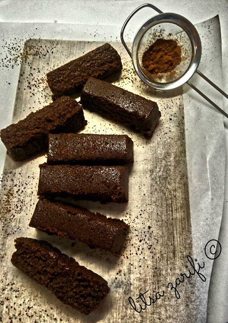 Brownie γλυκοπατάτας με αλεύρι