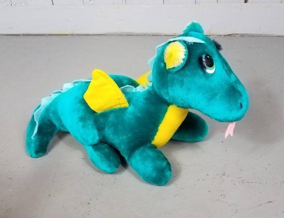 eefc8600d9912 Puff The Magic Dragon 1987 Dakin Vintage Plush 16