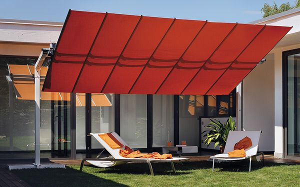 Unique sun shades for the lawn or pool area.