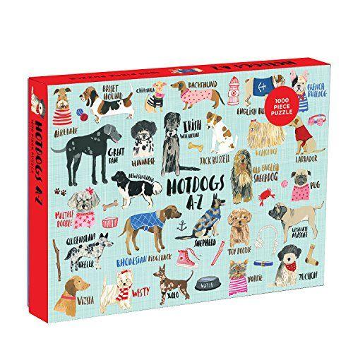 Mudpuppy 1,000-Piece Hot Dogs Puzzle, Playful Artwork