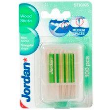 Jordan Wood Sticks Οδοντογλυφίδες Με Άρωμα Μέντας 100τμχ