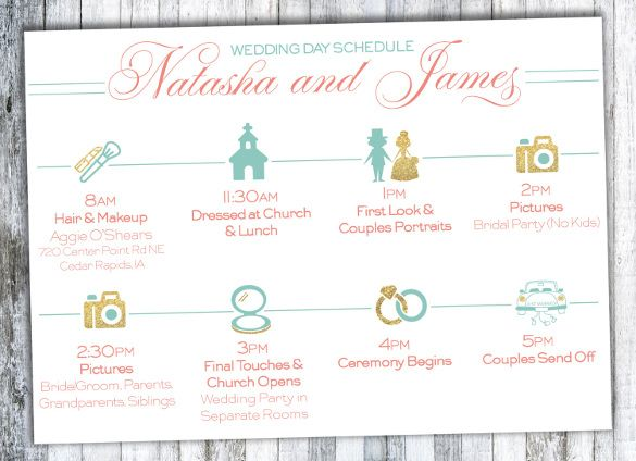 How To Create The Perfect Reception Timeline: 25+ Best Ideas About Wedding Timeline Template On