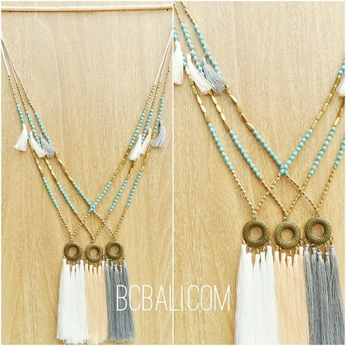 golden beads caps pendant necklaces tassels bali - golden beads caps pendant necklaces tassels bali