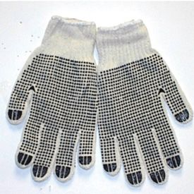 Personal Protection Gloves - Cotton/Polyester String Knit Gloves (w/ PVC on both sides)