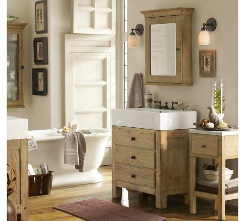 Mason Reclaimed Wood Einzelwaschbecken Vanity – Wax Pine Finish