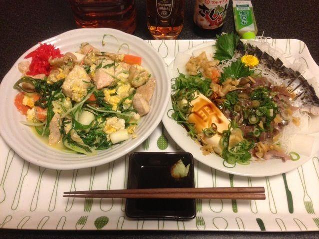 週末は大阪に帰るから、冷蔵庫の中を片付けないと!꒰✩''ω`ૢ✩꒱ - 45件のもぐもぐ - 鶏胸肉のチーズ野菜炒め、炙りしめ鯖、鯵のたたき、男奴!꒰ •ॢ  ̫ -ॢ๑꒱✩✨ by scorpion