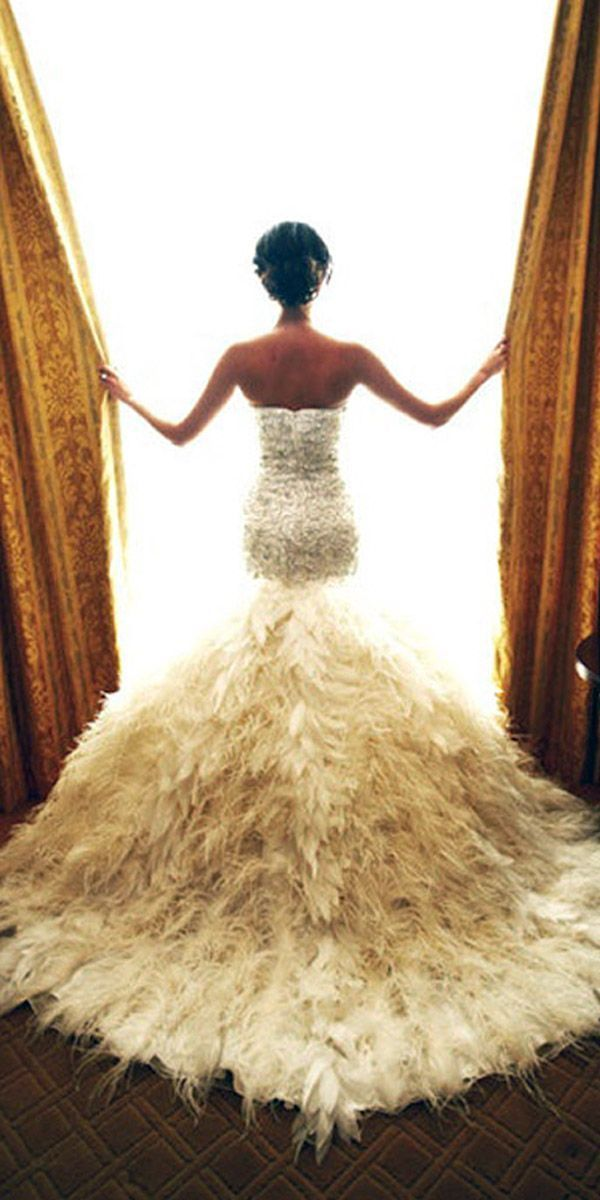 The 25 Best Feather Wedding Dresses Ideas On Pinterest