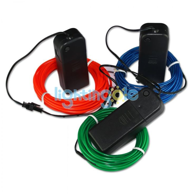 4 modes 15FT  3PCS/Lot Red Green Blue Neon Glowing Strobing Electroluminescent El Wires